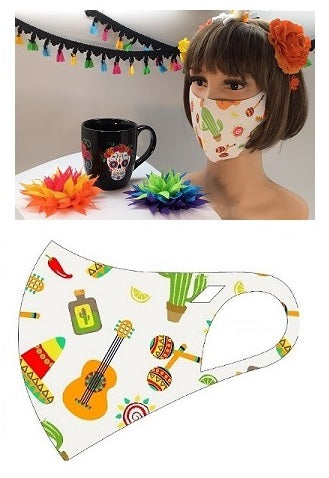 MASK-SM1048 FIESTA WHITE -10PCS($2.50ea)