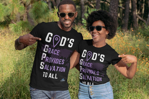 GOD'S GPS SHIRT - Shine Ya Light Gear