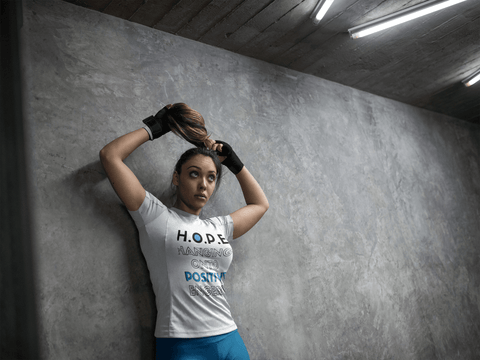 Image of H.O.P.E Hanging Onto Postive Energy Unisex Heavy Cotton Tee - Shine Ya Light Gear