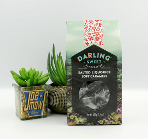 Darling Sweet Salted Liquorice Soft Caramels 150g