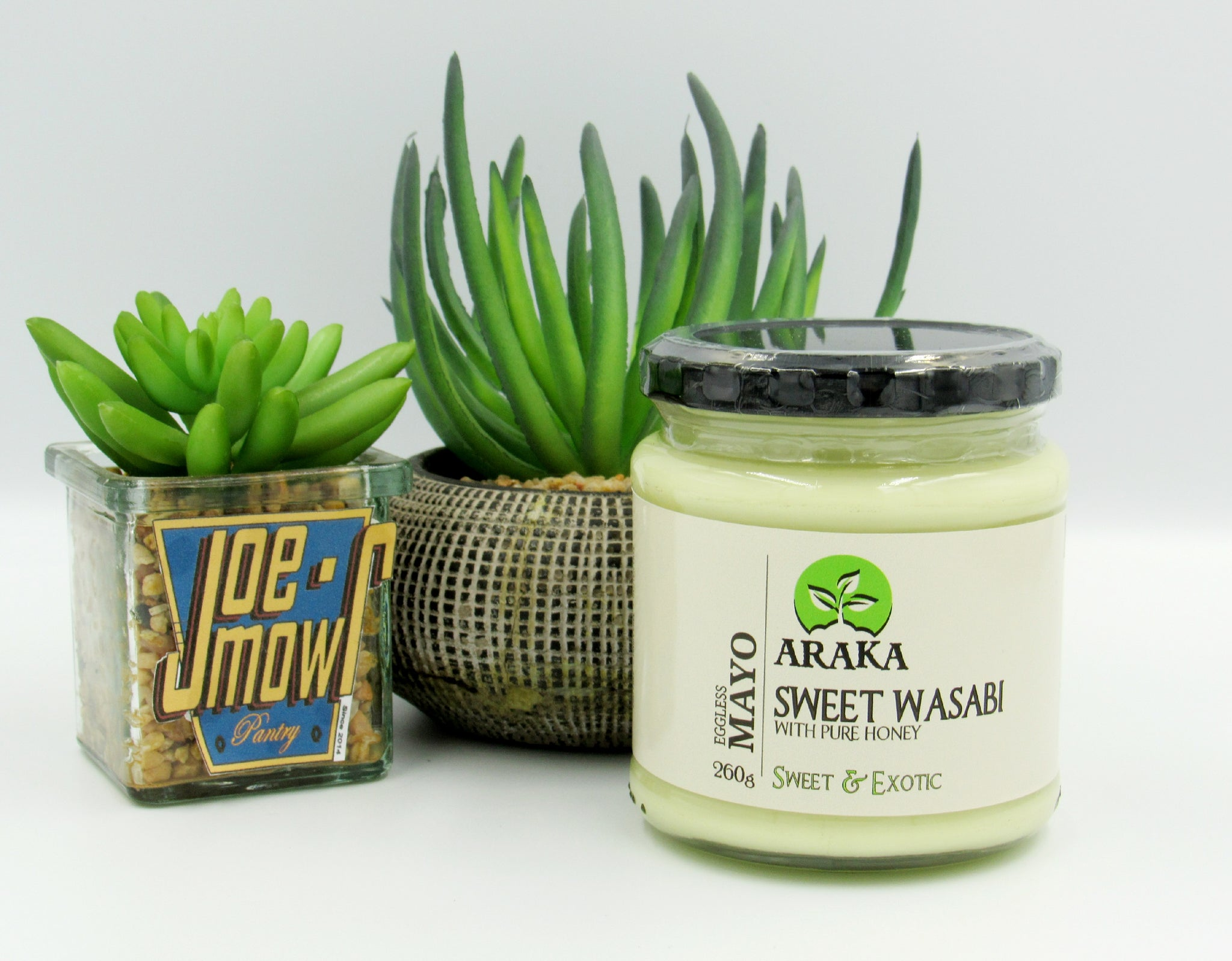 Araka Sweet Wasabi With Pure Honey Eggless Mayo 260g (sweet  & exotic)