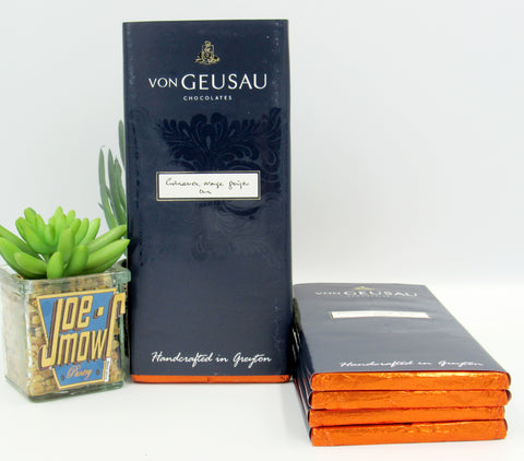 Von Geusau - Cinnamon, Orange, & Ginger Dark Chocolate slab 100g