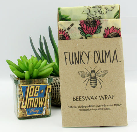 Funky Ouma Beeswax Wrap 2pack