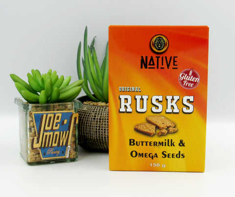 Native Buttermilk & Omega Seed Rusks 150g