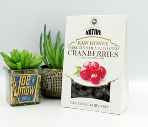 Native Raw Honey Chocolate Cranberries w/ground almond (100g)