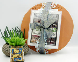 Pizza stone and spice gift set