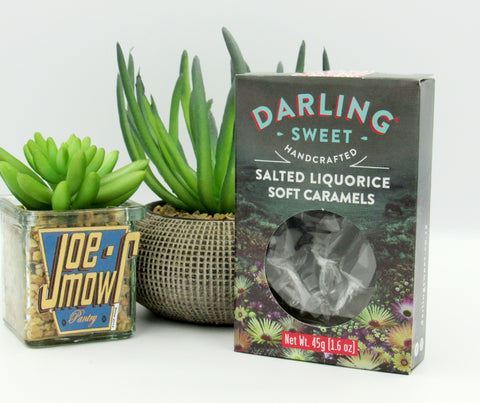 Darling Sweet Salted Liquorice Soft Caramels 45g
