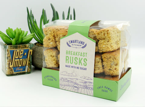 Swartland Kitchen Breakfast Rusks made with no Sugar  400g