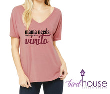 Load image into Gallery viewer, Mama Needs una Botellita de Vinito, Cute and funny Shirt for Wine Lovers