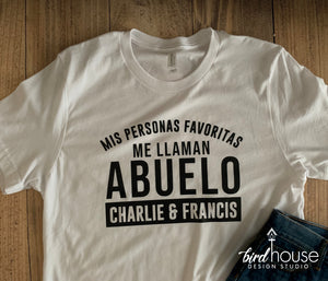 cute personalized shirt gift for Abuelo