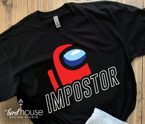 Impostor SUS Among Us Shirt, Cute Tee Custom ANY COLOR, Roblox Gamer, Birthday Theme Party Gift, Funny Shirt for kids, SUS Things