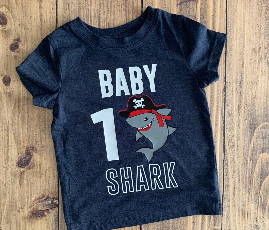 Baby Shark Birthday Boy Shirt, Personalize Any Theme, Cute Family Birthday Shirts