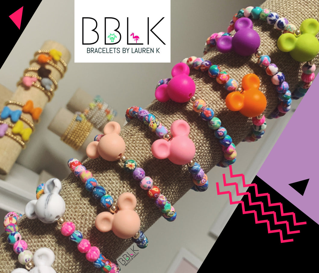 Mickey Colorful Beaded Bracelets by BBLK (Colors Vary)