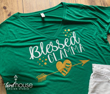 Load image into Gallery viewer, Blessed Glamma Shirt, Personalized Grandma, Grandkid Names, Mother's day gift