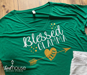 Blessed Glamma Shirt, Personalized Grandma, Grandkid Names, Mother's day gift