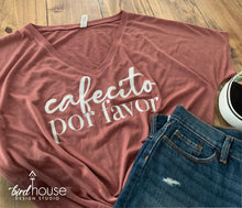 Load image into Gallery viewer, cafecito porfavor cute shirt for mom gift