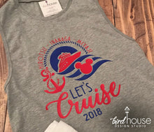 Load image into Gallery viewer, Let's Cruise Disney Shirt, Cute Family Group Shirts, Personalized