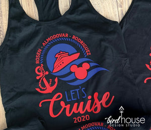 Let's Cruise Disney Shirt, Cute Family Group Shirts, Personalized
