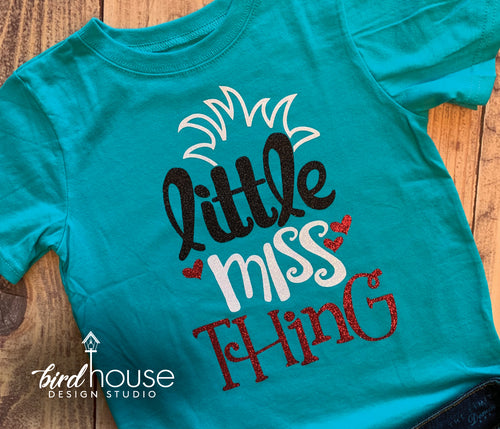 Little Miss Thing, Dr. Seuss Day Shirt, Cute Cat in the Hat Tee, Glitter or Matte