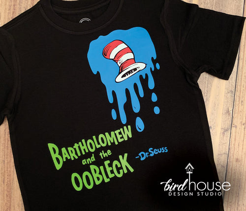 Bartholomew and the Oobleck Shirt, Cute Dr Seuss Tee, Cat in the Hat