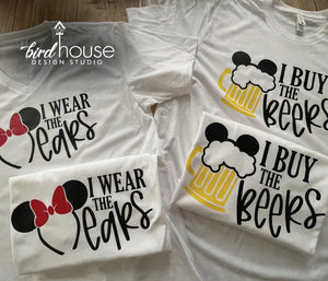 I Buy the Beers Shirt, Cute Couples Matching Disney Tees, Epcot Food and Wine Festival, Cute Tee Drinking around the world