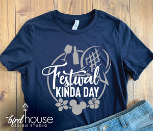 Just Here for the Festival Shirt, Cute Epcot Food and Wine Flower & Garden Tee, Matching Shirts