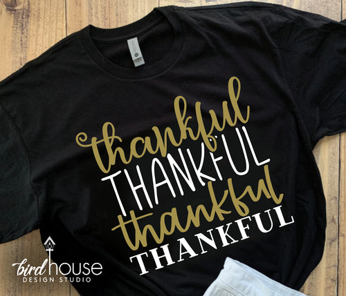 Thankful Thankful Shirt, Cute Fall Thanksgiving Tee, Custom