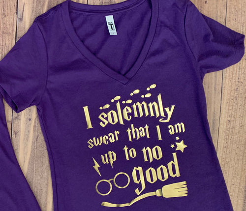 Harry Potter, Solemnly swear that I'm Up to no good T-Shirt, Universal Studios, Vacation Shirt, Cute Group Tee, Any Color