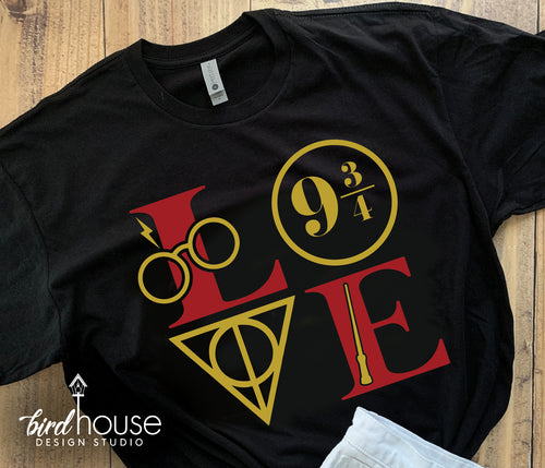 Harry Potter Icons LOVE, Hogwarts Shirt, Cute Tee for Universal Studios