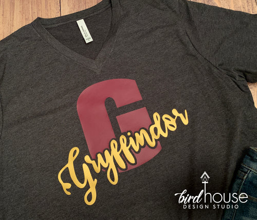 Hogwarts House Gryffindor, Universal Harry Potter, Cute Matching Tees, Large Letter Mettalic