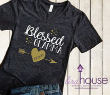 Load image into Gallery viewer, Blessed Glamma Shirt, Personalized Grandma, Grandkid Names, Any Color
