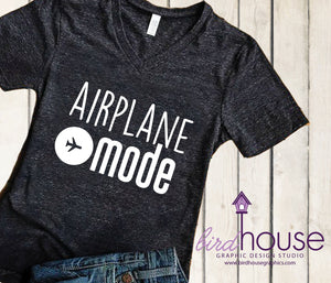 Airplane Mode Vacation Shirt, Funny Shirt, Personalized, Any Color, Customize, Gift