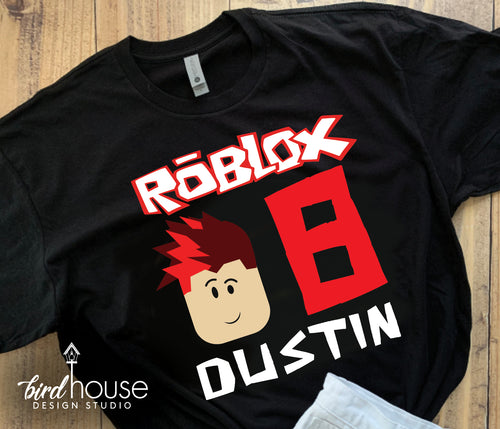 Roblox Birthday Shirt, Personalized Any Colors, Name and Age