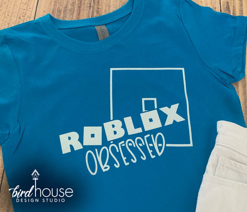 Roblox Obsessed Shirt, Cute gamer Birthday Shirts, Funny Kids Tee