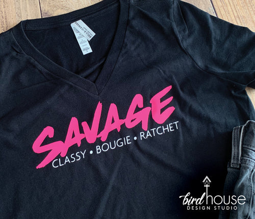 Savage Classy Bougie Ratchet, Cute Tik Tok Shirt Challenge Video Tees