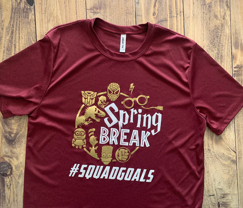 Universal Studios Squad Goals T-Shirt, Any Text, Spring Break, Cute Family Trip Shirt, Friendcation