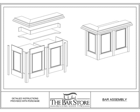 Home Bar Assembly