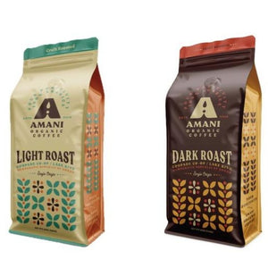 Combo Pack (Light and Dark Roast Coffee) from Amani Coffee
