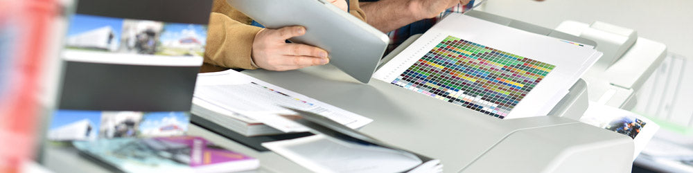 Printing colored documents on an office printer