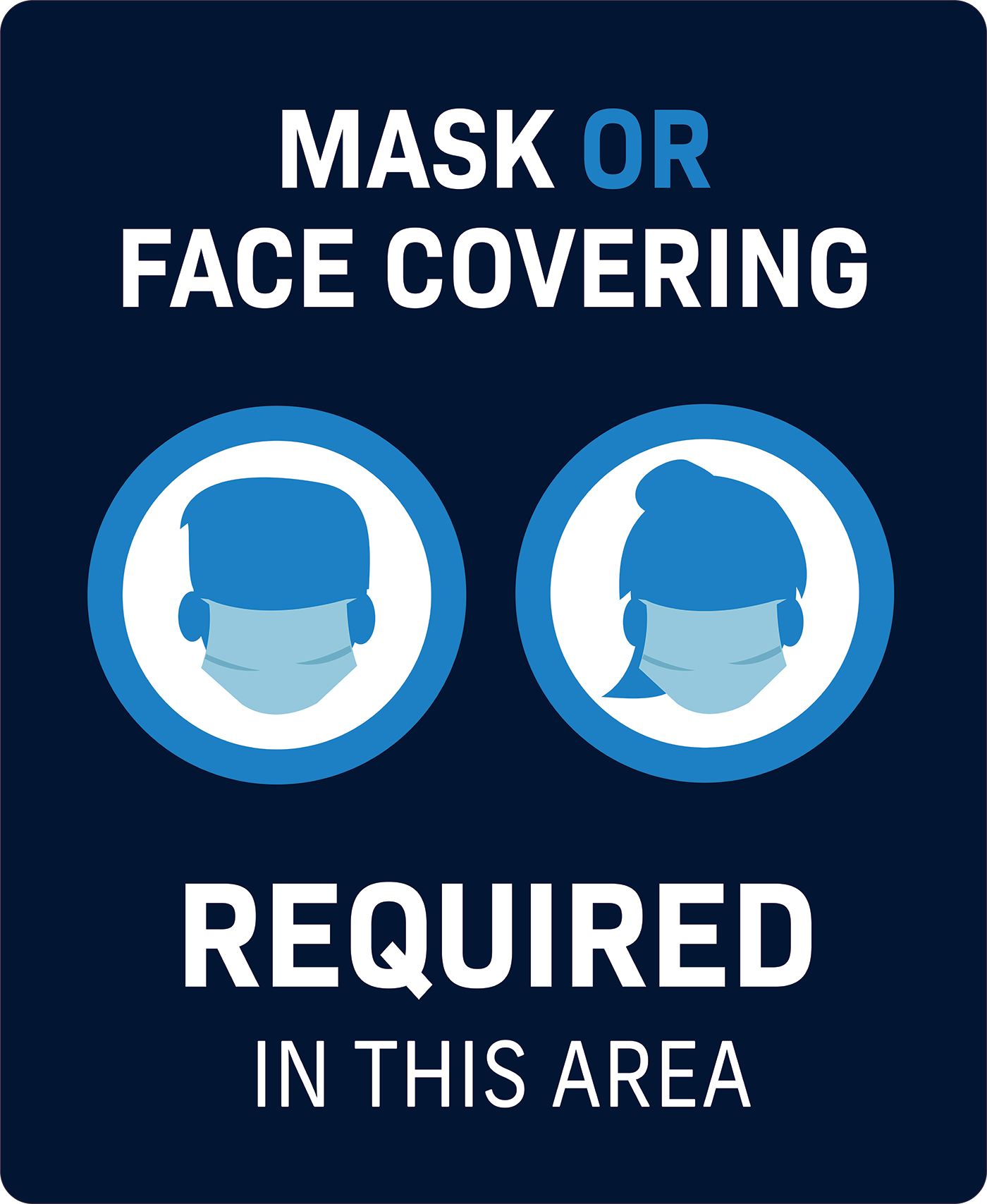 COVID-19 face masks required sign