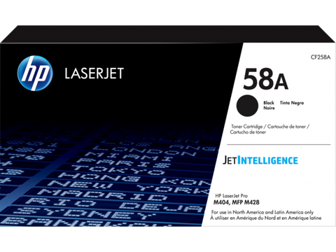 HP 58A (CF258A) Black Original LaserJet Toner Cartridge (3000 Yield)