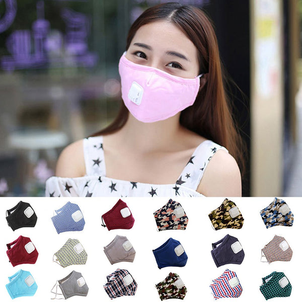 PM2.5 Men Women adult Cotton Anti Dust Mask Mouth Mask Activated Filter Windproof Mouth muffle Bacteria Proof Flu Face Masks