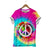 LOVE AND PEACE WATERCOLOR T-SHIRT
