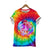 Retro Hippie Love Peace Freedom Spiral Tie Dye T-shirt