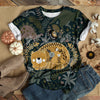 SLEEPING CHUBBY CAT JUNGLE T-SHIRT