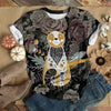 FLOWERY CAT T-SHIRT