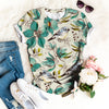 Cute Bird Flower Botanical T-shirt