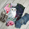 White Owl And Roses T-shirt