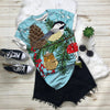 Winter Bird With Owl Pine T-shirt