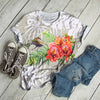 HUMMINGBIRD WITH RED BLOSSOM T-SHIRT